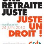 Retraites  : Tous dans l'action le 24 juin pour une réforme juste !