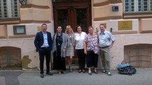 avec nos élus devant l'ambassade de Zagreb