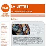 Recrutés locaux & dialogue social à l'étranger, RIFSEEP cat. C, charte du temps : la LDS d'avril est en ligne !